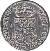 ⅔ Thaler - Friedrich III – reverse