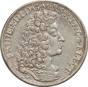 ⅔ Thaler - Friedrich III – obverse