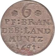 6 Pfennig - Friedrich III (Magdeburg Mint) – reverse