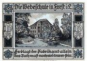 10 Pfennig (Forst in der Lausitz) – reverse