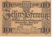 10 Pfennig (Sommerfeld) – obverse
