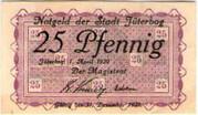 25 Pfennig (Jüterbog) – obverse