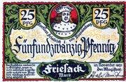 25 Pfennig (Friesack) – obverse