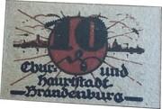 10 Pfennig (Brandenburg an der Havel) – obverse
