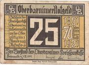 25 Pfennig (Freienwalde an der Oder; Kreissparkasse Oberbarnim) – obverse
