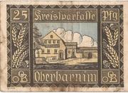 25 Pfennig (Freienwalde an der Oder; Kreissparkasse Oberbarnim) – reverse