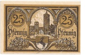 25 Pfennig (Jüterbog) – reverse
