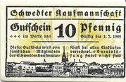 10 Pfennig (Schwedt; Schwedter Kaufmannschaft) – obverse