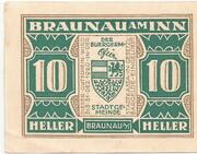 10 Heller (Braunau) -  obverse