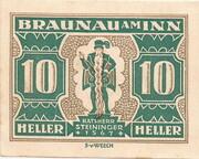 10 Heller (Braunau) -  reverse