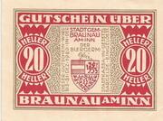 20 Heller (Braunau) -  obverse