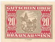 20 Heller (Braunau) -  reverse