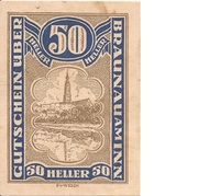50 Heller (Braunau) -  reverse