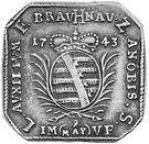 ½ Thaler (Siege coinage) – obverse