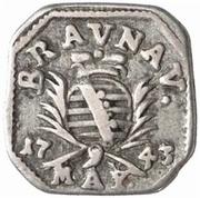 6 Kreuzer (Klippe; Siege coinage) – obverse