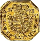 1 Ducat (Siege coinage) – obverse