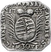 30 Kreuzer (Siege coinage) – obverse