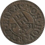 ½ Grote – obverse