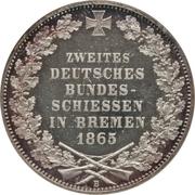 1 Thaler (2nd German Shooting Festival) – reverse