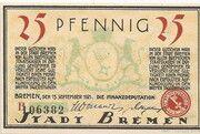 25 Pfennig (Bremen) – obverse
