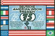 75 Pfennig (Bremen; Deutsche Amerika-Woche) – obverse