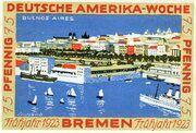 75 Pfennig (Bremen; Deutsche Amerika-Woche) – reverse