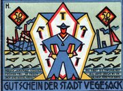 50 Pfennig (Vegesack) – reverse