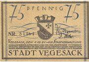 75 Pfennig (Vegesack) – obverse