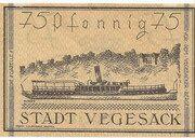 75 Pfennig (Vegesack) – reverse