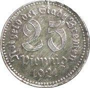 25 Pfennig - Bremen – obverse