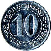 10 Pfennig - Bremen – reverse