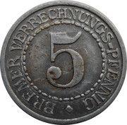 5 Pfennig  - Bremen – reverse
