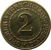 2 Pfennig - Bremen – reverse