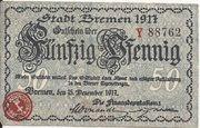 50 Pfennig (Bremen) – obverse