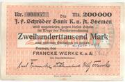 200,000 Mark (Bremen; Francke Werke) – obverse