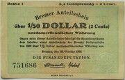 8.4 Goldpfennig / 2 US-Cents -  obverse