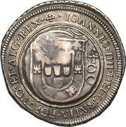500 Réis - João IV (Countermarked 400 Réis) – obverse