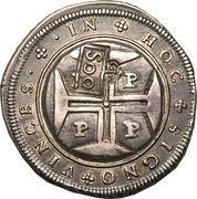 500 Réis - João IV (Countermarked 400 Réis) – reverse