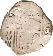 240 Réis- João IV (Countermarked 4 Reales) – obverse