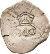 240 Réis- João IV (Countermarked 4 Reales) – reverse