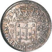 80 Réis - Pedro II – obverse