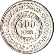 400 Réis (400th Anniversary of the Discovery) – reverse