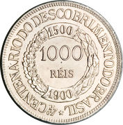 1000 Réis (400th Anniversary of the Discovery) – reverse