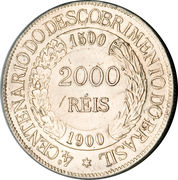 2000 Réis (400th Anniversary of the Discovery) – reverse