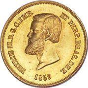 5000 Réis - Pedro II – obverse