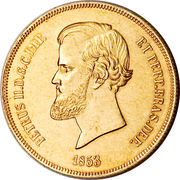 20 000 Réis - Pedro II – obverse
