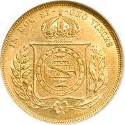 10 000 Réis - Pedro II – reverse