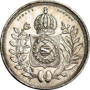 800 Réis - Pedro II – reverse