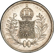 1200 Réis - Pedro II – reverse