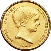 10 000 Réis - Pedro II – obverse